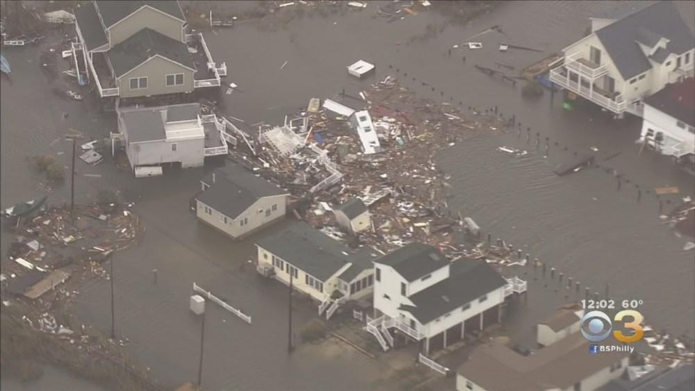 photo of destruction of homes after Superstorm Sandy