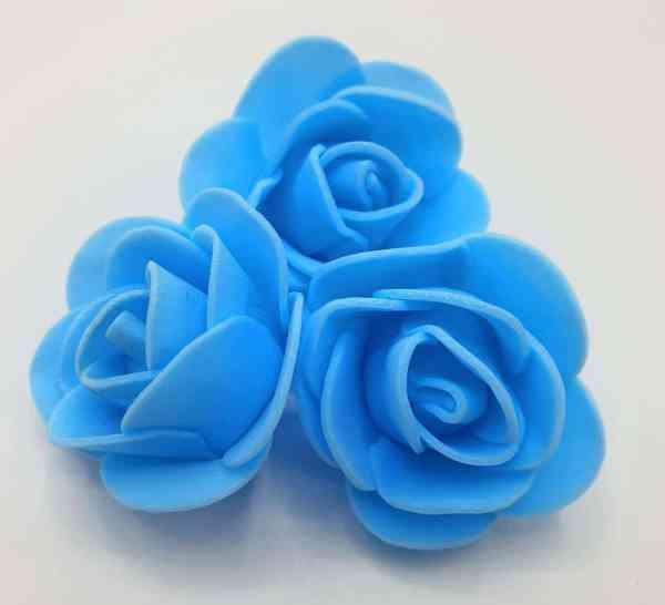 fleur embellissement mousse rose bleu turquoise