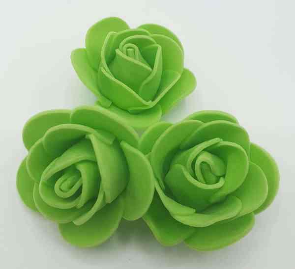 fleur embellissement mousse rose verte
