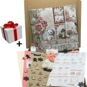 kit papier scrapbooking frozen roses ciao bella