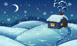 snow on Christmas Eve