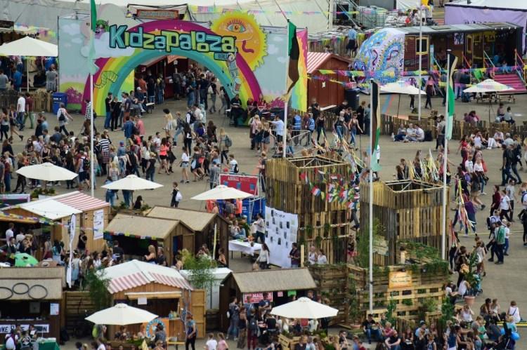 Lollapalooza und Kidzapalooza 2015 in Berlin von oben (Alexander Koerner/Getty Images for Lollapalooza Berlin)