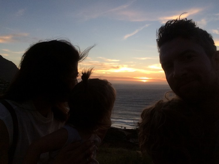 Letzter Abend: Sonnenuntergangsselfie in Llandudno