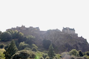 view of Edinburgh Castle from Princes Street