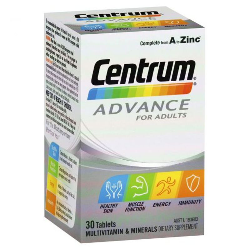 Centrum Advance For Adults Tablets - 30 Pack