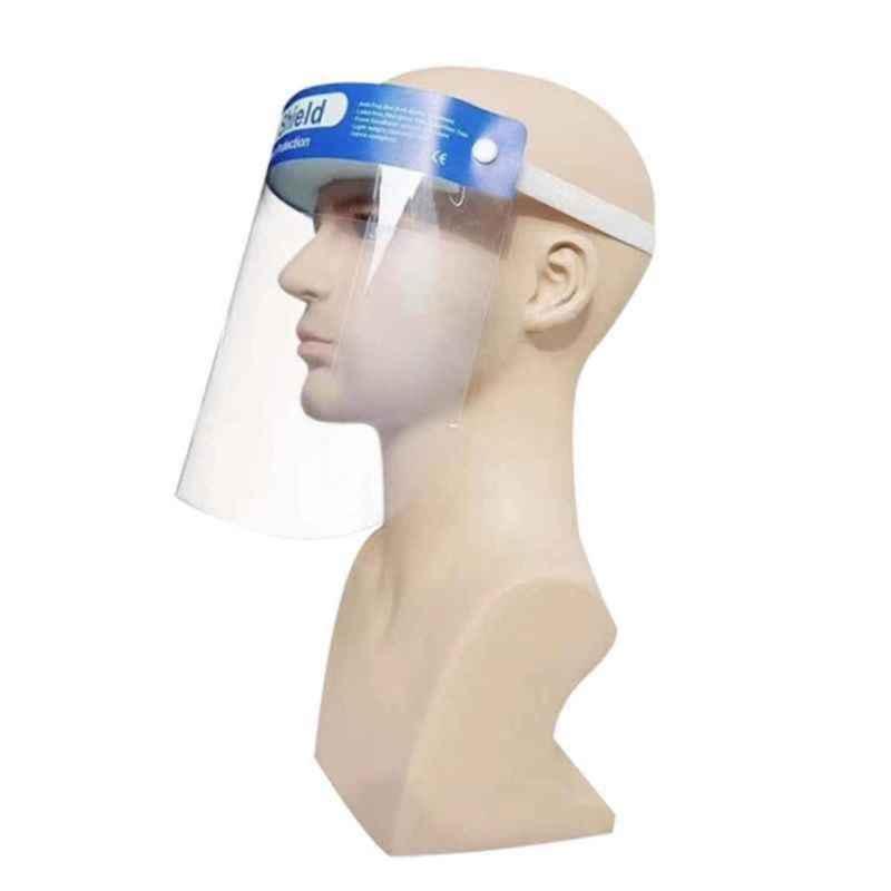Medical-Grade Protective Face Shield, Anti-Fog, Blue