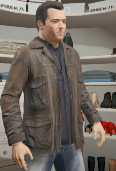 GTA 5 Michael Leather Jacket
