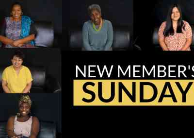 New Members Sunday