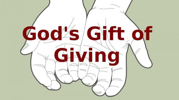Giving As the Grace of God at Work Image