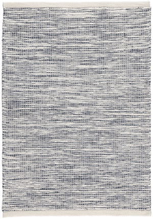 Newlife Rugs Stria navy and white 100% recycled plastic rug