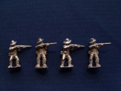 Infantry in Slouch Hat, Shell Jacket Firing