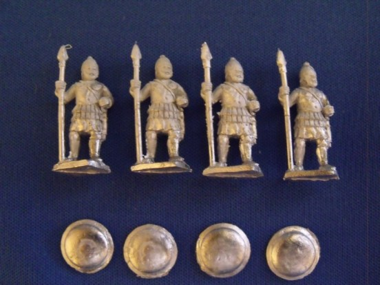 African Spearmen in Muscle Cuirass