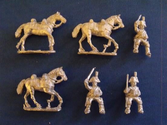 Heavy Dragoons Charging in Bicorne