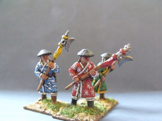 Halberdiers in Long Robes