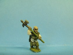 Dwarf - Advancing, Halberd at Shoulder