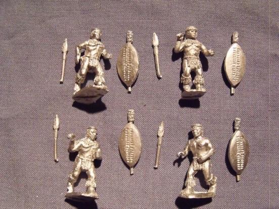 Zulu?s in War Dress Advancing
