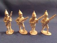 Burmese Regulars w/ Muskets Advancing (4)