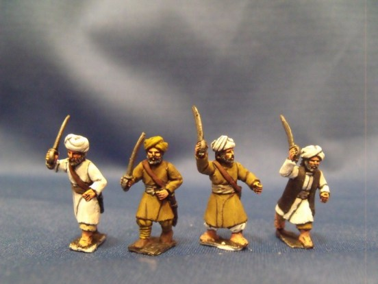 Afghans Advancing with Swords