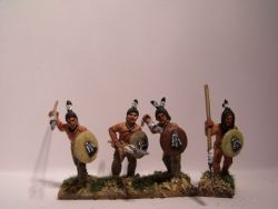 Sioux Warriors on foot with Spears