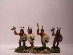Sioux Warriors With Tomahawks