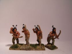 Sioux Warriors With Bows