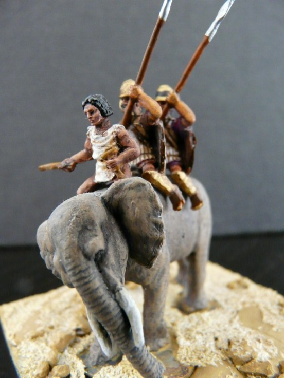 Elephant with Driver & 2 Pike-men
