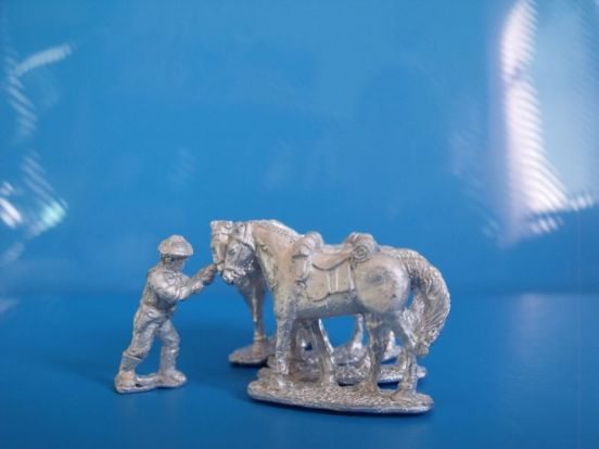 7th cavalry Horseholder and 4 horses