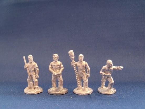 Gun crew firing, bare heads