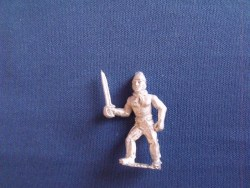 French Boarder, Sword leading, woollen hat, bare chest