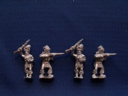 Zulu?s in Ceremonial Dress with Rifles