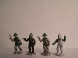 Irregular Cavalry Officers Dismounted