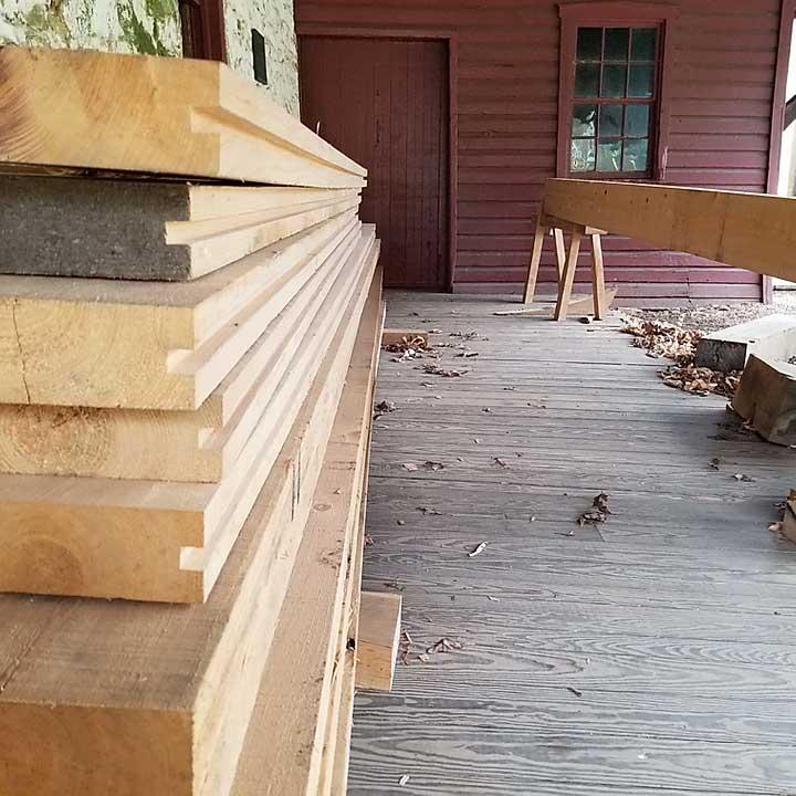 large wood stock