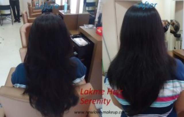 Lakme Hair Serenity Service (Straight Hair with Cysteine) Review, Photos