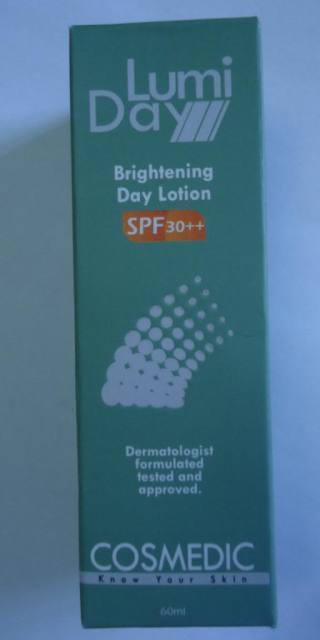 Cosmedic Lumiday Brightening Day Lotion SPF 30++ Review