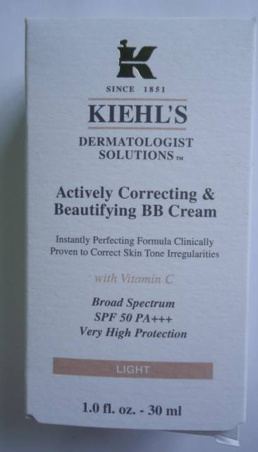 Kiehl's Actively Correcting & Beautifying BB Cream Light Review, Swatches, FOTD