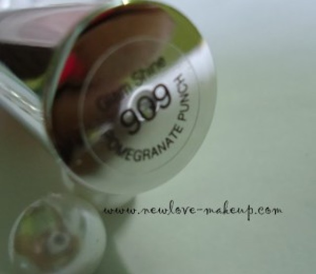 L'oreal Paris Glam Shine Balmy Gloss 909 Pomegranate Punch Review, Swatches