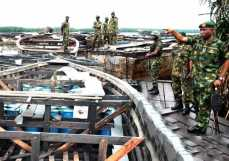 Image result for Nigerian Navy clampdown on illegal refineries