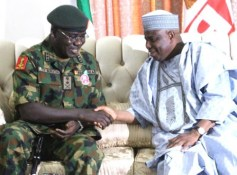 Image result for Tambuwal pledges support for Nigerian military