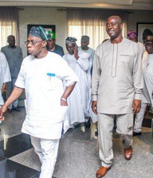 Seyi Makinde visits Obasanjo