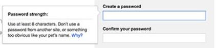 Creating gmail password