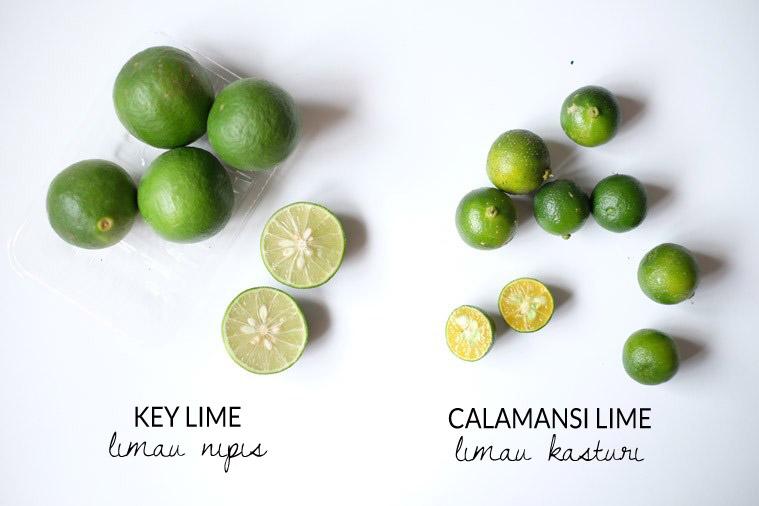 Key Lime (Limau Nipis) & Calamansi lime (Limau Kasturi)
