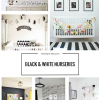 black and white nursery, nursery, inspiration