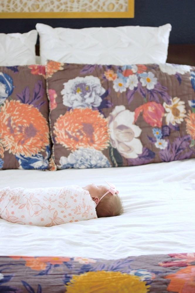 agneta quilt, anthropologie, newborn photography, little unicorn