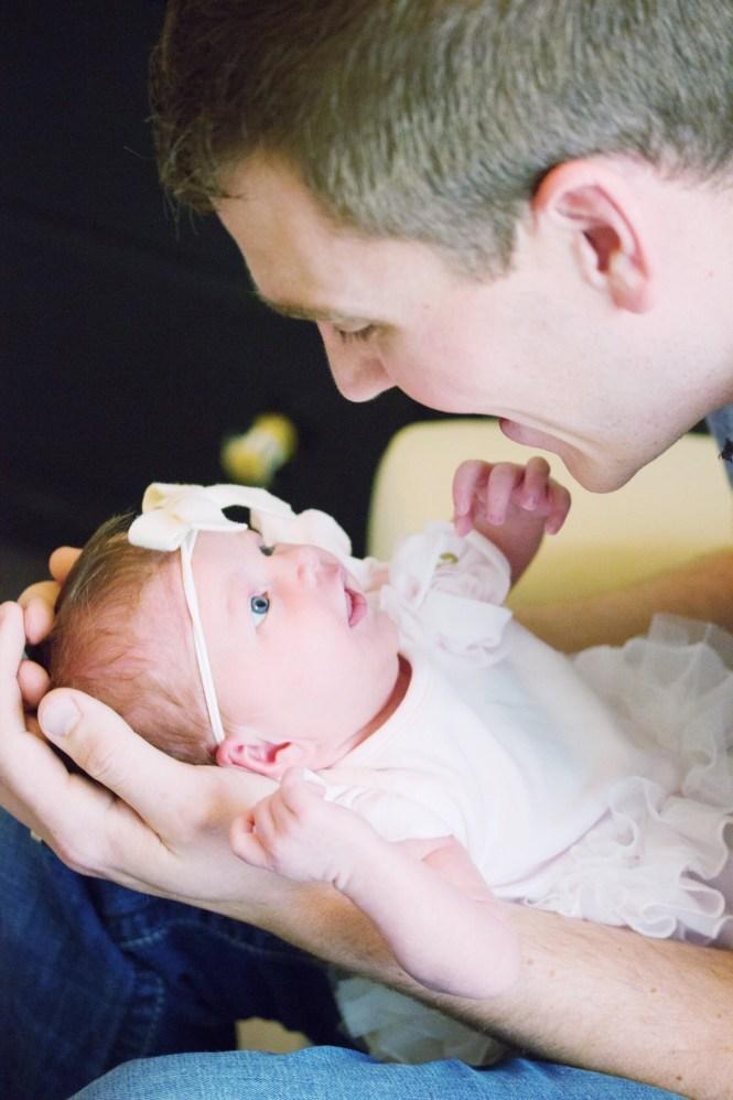 newborn photography, nursery photo, new dad, baby girl