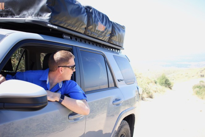 overlanding daytrip from boise, overlanding with toddlers, boise, 4runner trd pro, tepui tent