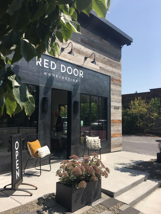 Red door home and design, Hailey Idaho shops, sun valley shops