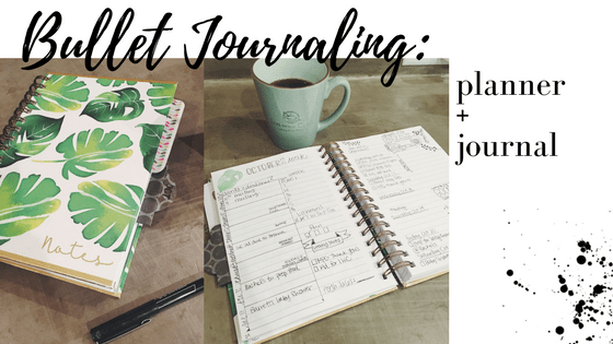 bullet journaling with spiral bound lined paper