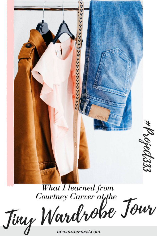 project 333, tiny wardrobe tour, minimizing, capsule wardrobe