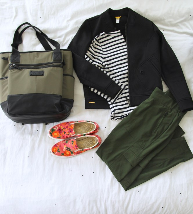 Kauai Packing ​list, beach vacation packing, athleta cargo pant, lole lily bag, travel outfit, rifle paper keds, lole bomber jacket