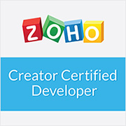Certified Zoho Developer - Zoho Creator, CRM, Forms, Books, Desk